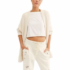 Free People High Hopes Open Front Cardigan Sweater